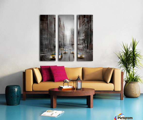 City-Art NYC 5th Avenue Traffic Split Canvas print
