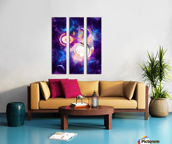 Dream Art XVIII - Cosmic World Split Canvas print