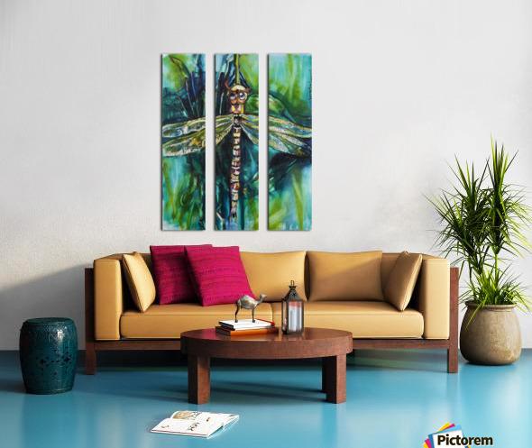 Louisiana Dragonfly Split Canvas print
