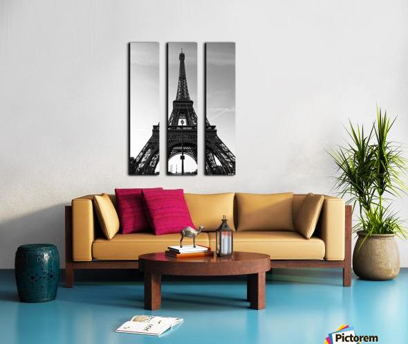 Eiffel tower in black  Toile Multi-Panneaux