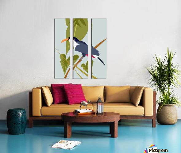 Toucanish Split Canvas print