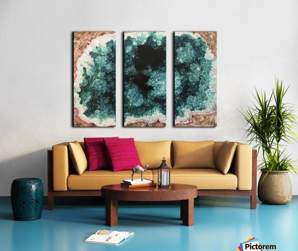 Green Geode Split Canvas print