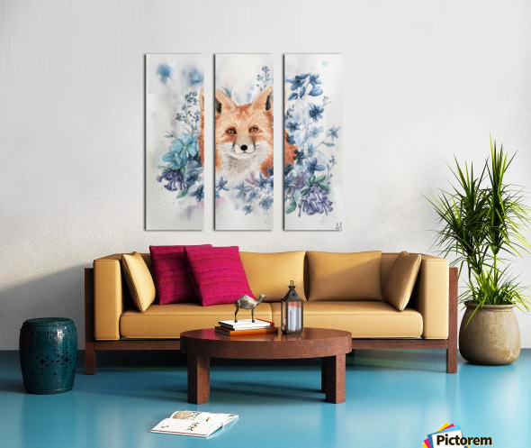 Fox Split Canvas print