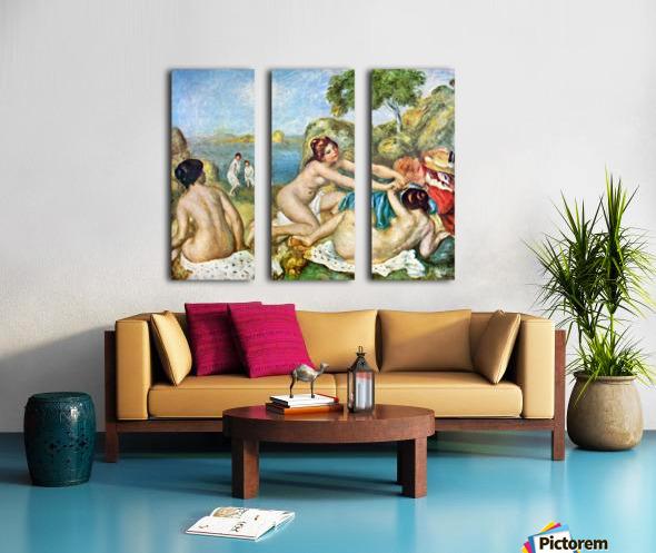 Three bathing girls with crab by Renoir Split Canvas print