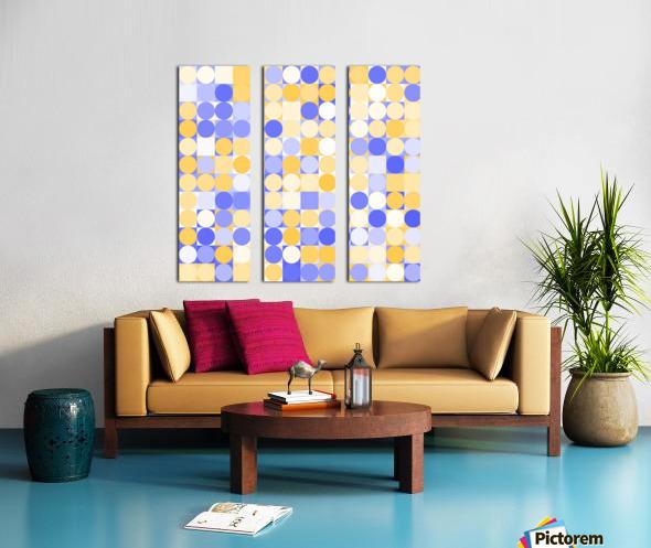 Geometric Art pattern Split Canvas print