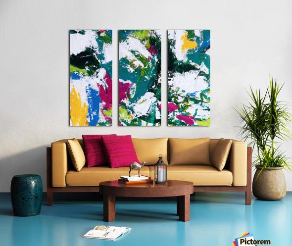 Tropical - Horizontal Split Canvas print