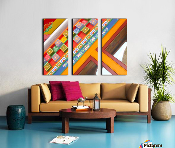 J.P.P. Eyes with Multicolored Hat Split Canvas print