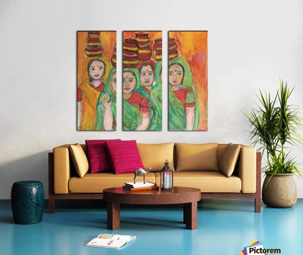 women  Split Canvas print