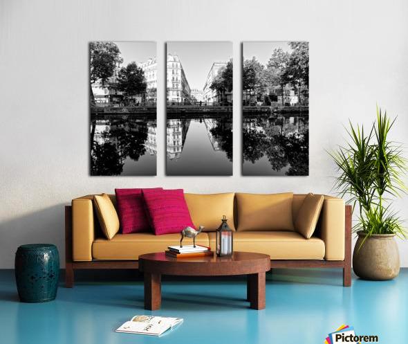 Canal Saint Martin reflection Toile Multi-Panneaux