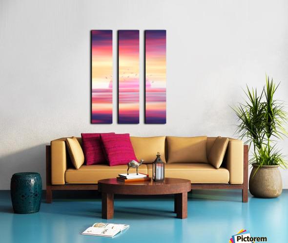 Abstract Movement XIX Split Canvas print
