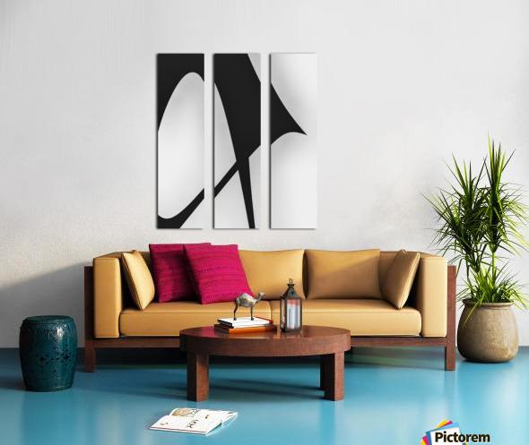 Abstract Sailcloth 5 Split Canvas print