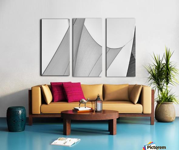 Abstract Sailcloth 8 Split Canvas print