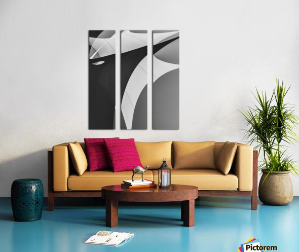 Abstract Sailcloth 4 Split Canvas print