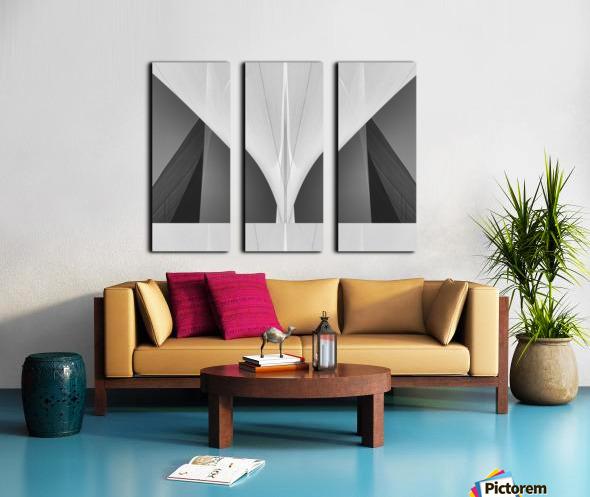 Abstract Sailcloth 1 Split Canvas print