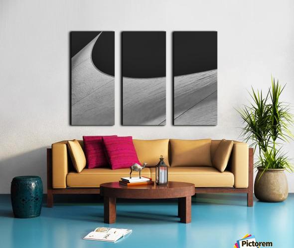Abstract Sailcloth 19 Split Canvas print