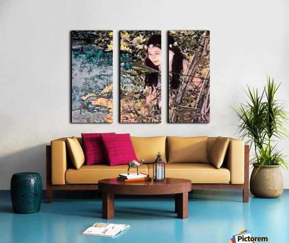 FAIRY AND THE LAKE  Art-Photo 1-4  Split Canvas print