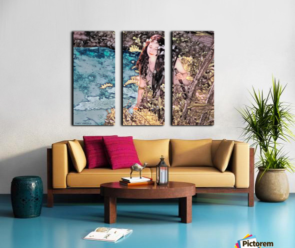 FAIRY AND THE LAKE - Art-Photo  2-4 Split Canvas print