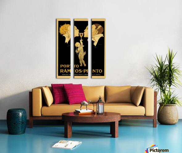Porto Ramos - Pinto Original Poster Split Canvas print