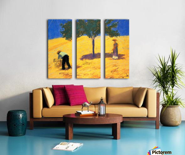 Tree in Cornfeld by Macke Split Canvas print