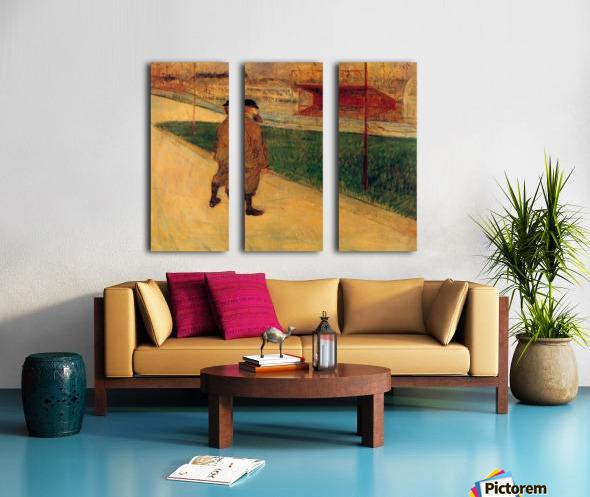 Tristan Bernard by Toulouse-Lautrec Split Canvas print