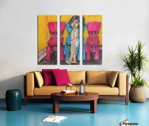 Bluepink Split Canvas print