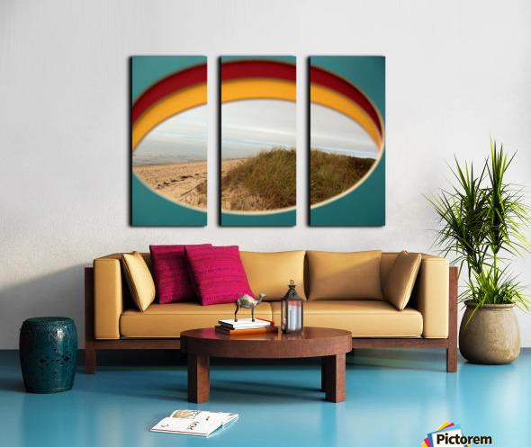 Absorbed-in-Ocean Split Canvas print