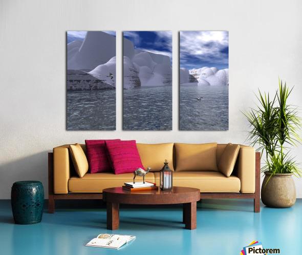 citadelle de glace Split Canvas print
