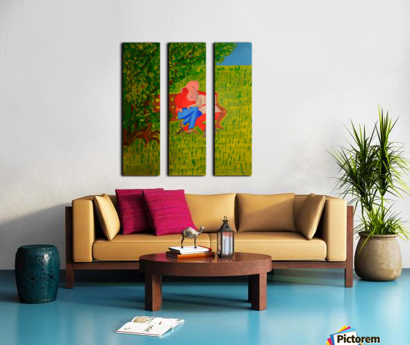 les amoureux Split Canvas print