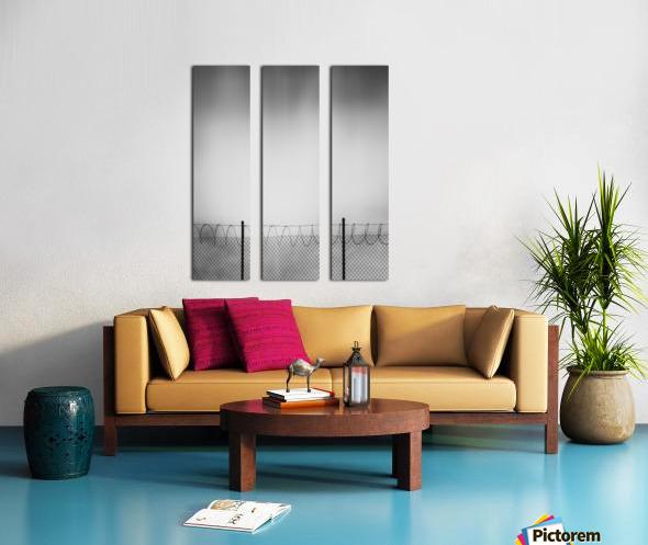 Restricted Zone Split Canvas print