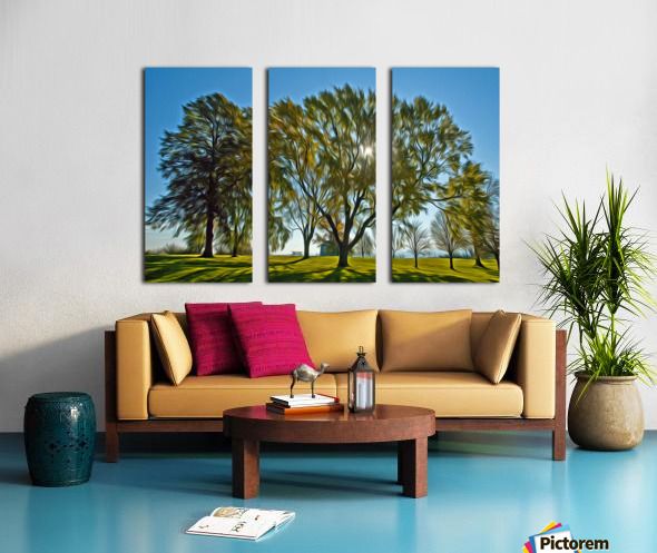 Soleil du printemps Split Canvas print