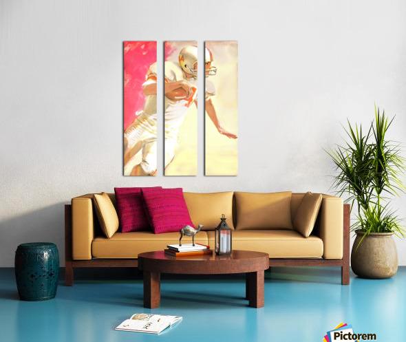 1963 Running Back Vintage Gridiron Wall Art Split Canvas print