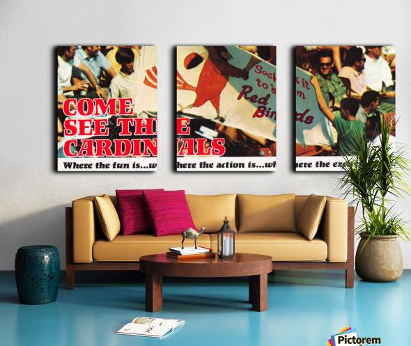 1970 St. Louis Cardinals Baseball Poster Split Canvas print