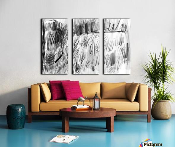 Lawn sketch Split Canvas print