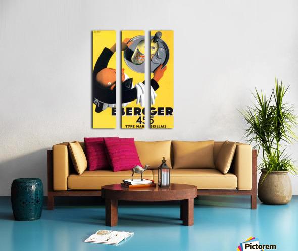 Berger 45 Poster Ad Roland Ansieau 1935 Split Canvas print