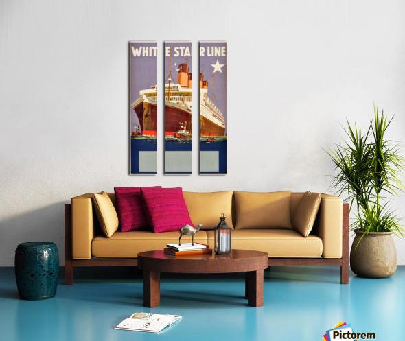 Original Vintage 1920 Travel Advertising Poster For White Star Line Cruises Split Canvas print
