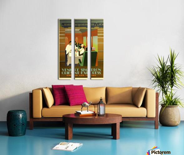 Travel Art Deco Style Poster - Venice Simplon Orient Express Railway Split Canvas print