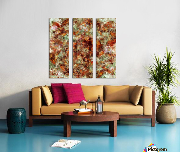 Submerged leaves Split Canvas print