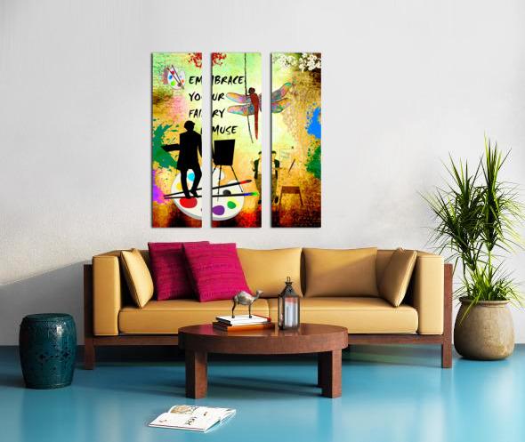EMBRACE YOUR FAIRY MUSE -ART-For Painter Artist Split Canvas print