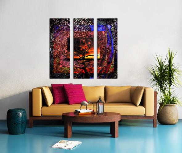 Tree Layers 4 Split Canvas print
