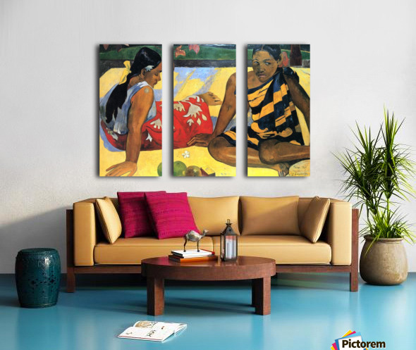 Two Women From Tahiti by Gauguin Split Canvas print