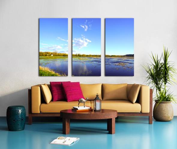 Beautiful Day at the Estuary Split Canvas print