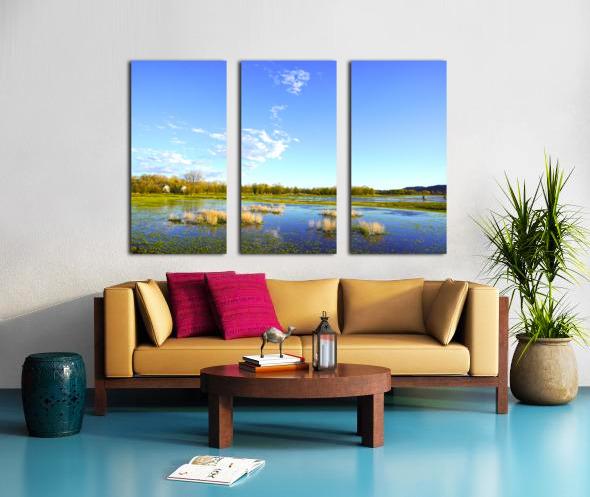 Beautiful Day at the Estuary 2 Split Canvas print