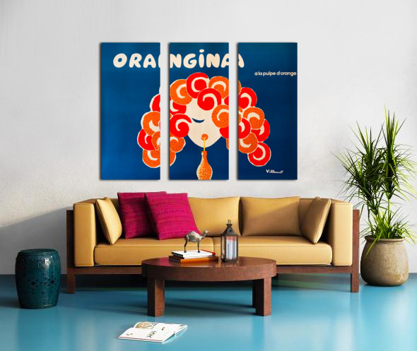 Bernard Villemont Orangina Advertising Poster Split Canvas print