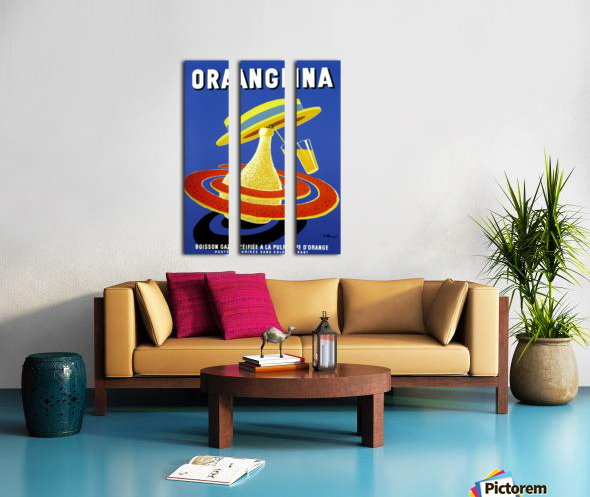 Orangina Vintage Poster Split Canvas print