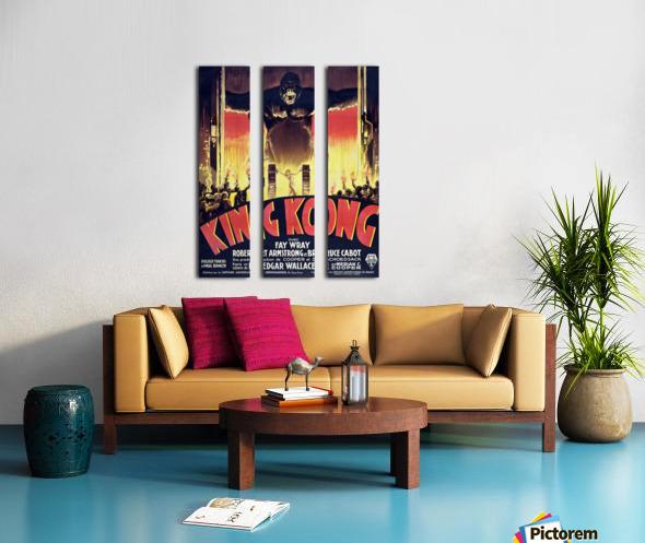 King Kong Vintage Poster Split Canvas print