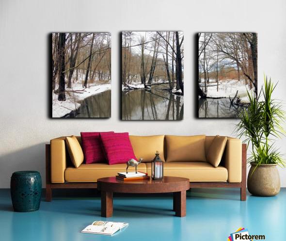 Lake Panorama Split Canvas print