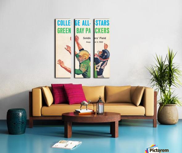 1962 Green Bay Packers vs. College All-Stars Split Canvas print