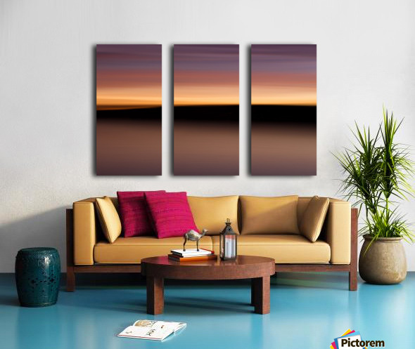 Sunset Motion Split Canvas print