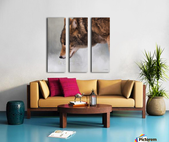 Time To Breathe - Wolf Art by Jordan Blackstone Split Canvas print