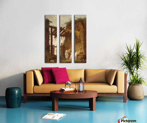 At the Hermits Split Canvas print